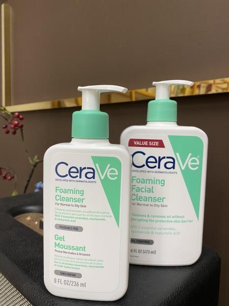 Sửa rửa mặt da dầu Cerave Foaming Facial Cleanser nhập khẩu