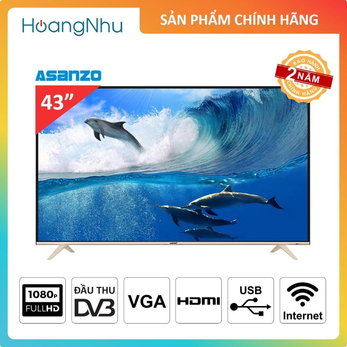 Bảng giá Smart TV Asanzo 43AS500 43 inch ( Full HD, wifi, tích hợp truyền hình KTS & Vệ tinh )