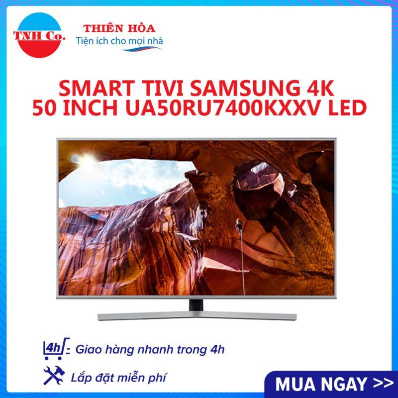 Bảng giá Smart Tivi SAMSUNG 4K UHD 50 Inch UA50RU7400KXXV LED (Bạc) kết nối Internet Wifi - Bảo hành 2 năm