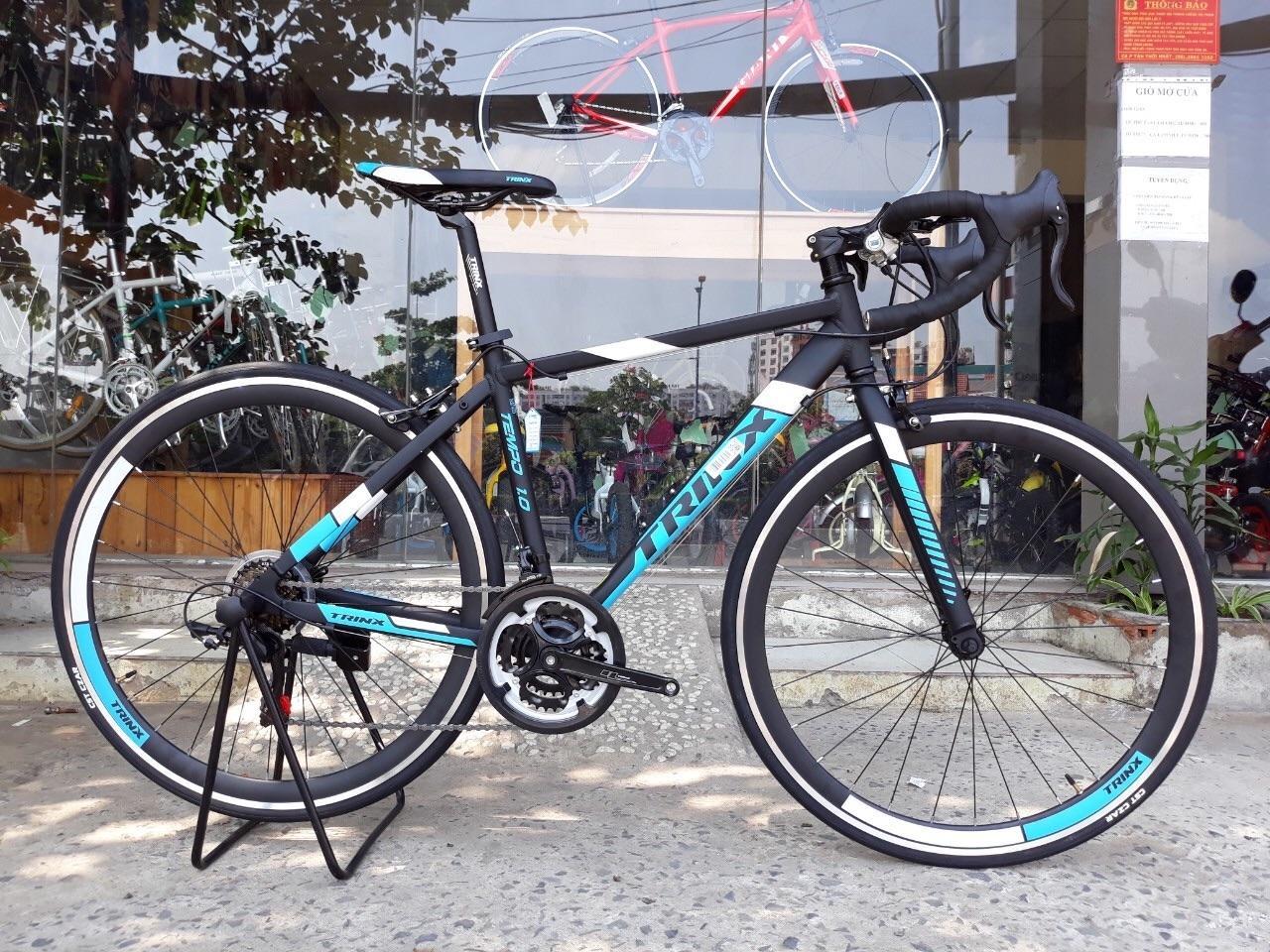 Mua Xe đạp đua TRINX TEMPO1.0 2018 đen xanh lá trắng