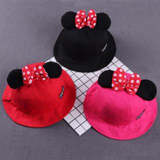 Nón vành tròn cho bé gái FUHA, mũ hình chuột Mickey xinh xắn bé 1 đến 3tuổi thumbnail