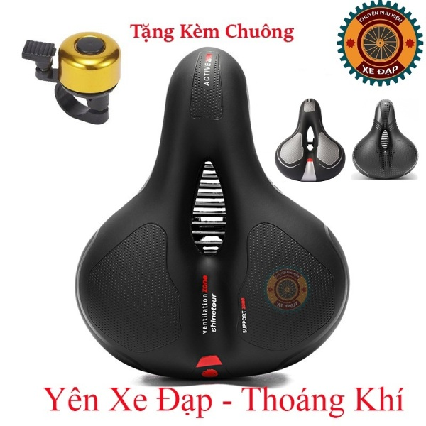 Mua Yên xe đạp thể thao , Carbon siêu êm , Chính hãng Shengxin , da PU cao cấp - Tặng kèm chuông