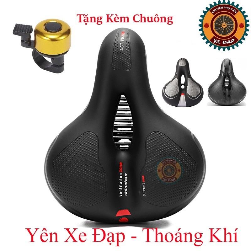 Phân phối Yên xe đạp thể thao , Carbon siêu êm , Chính hãng Shengxin , da PU cao cấp - Tặng kèm chuông