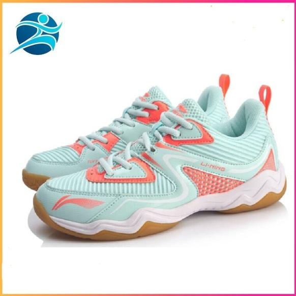 Giày cầu lông nữ LI-NING AYTQ036 giày đế kếp chống trơn trượt tuyệt đối chơi được sân gạch hoa-giày thể thao nam nữ-giày đánh bóng chuyền nữ giá rẻ