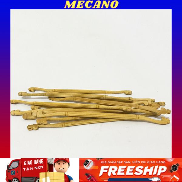 Cầu đậu thẳng MECANO cho chim khuyên chất liệu gỗ cao cấp khắc hình đầu rồng nổi bật