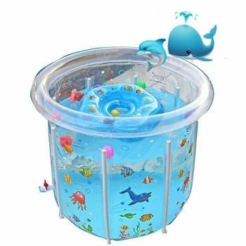 Bể bơi phao thành cao trong suốt dành cho bé...