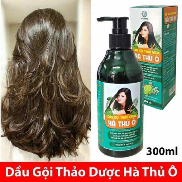 [K] Dầu Gội Thảo Dược Hà Thủ Ô 300ml kích thích mọc tóc, giảm rụng tóc, làm chậm quá trình bạc tóc- Giúp sạch gàu, đen tóc, mềm, suông mượt tóc giá rẻ