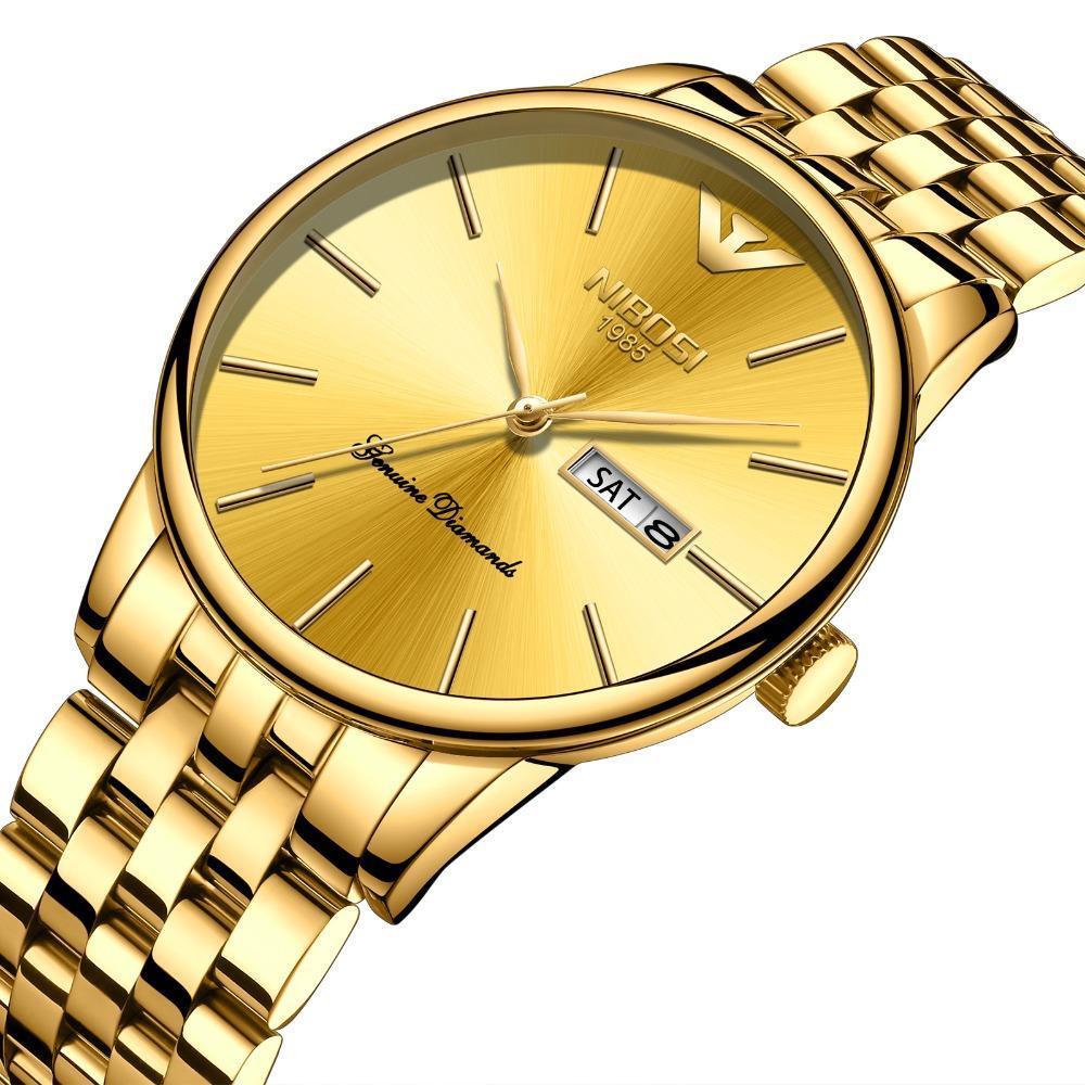 iWATCH-Đồng hồ nam NIBOSI lịch ngày dây thép đúc cao cấp chống nước 3ATM IW-NI2332 bán chạy