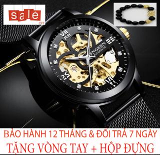 Đồng hồ nam FNGEEN M7 [TẶNG VÒNG TAY] [Liên quan cao cấp - đeo tay nam - đồng hồ đẹp - đồng hồ đôi - dây da - dong ho thuy sy giá rẻ - đồng hồ cơ - vòng tay nam đẹp - đồng hồ thông minh - thể thao - dây thép - quai thép - quai da - dây lưới] thumbnail