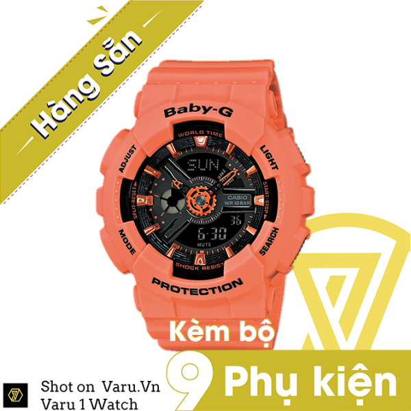 [Cao Cấp] Đồng hồ thể thao nam nữ G-Shock BA-111-4A2 Full phụ kiện bán chạy