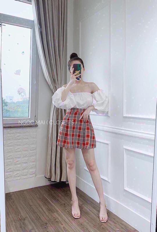 set áo và chân váy siêu cá tính thời trang nữ tombang