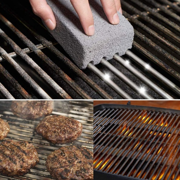 Giá 8Pack Grill Griddle Cleaning Brick Block Brick-A Magic Stone Pumice Grilling Cleaner Accessories for BBQ Grills, Racks, Flat Top Cookers
