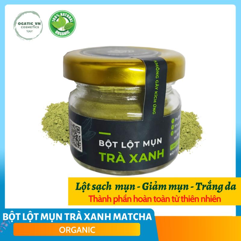 Bột lột mụn Trà Xanh Matcha Nguyên chất Organic - Handmade - LM005 giá rẻ
