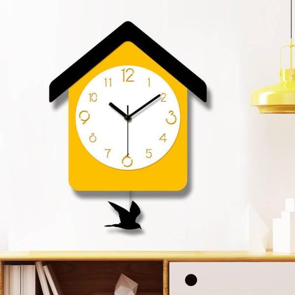 Nơi bán Đồng hồ treo tường phòng khách Đồng hồ kỹ thuật số acrylic im lặng Đồng hồ treo tường hình vuông Đồng hồ treo tường