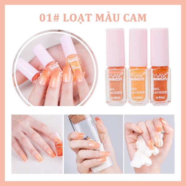 [HCM]3 cái / bộ Sơn móng tay không thấm nước Sơn móng tay màu hồng khô nhanh và lâu trôi giá rẻ