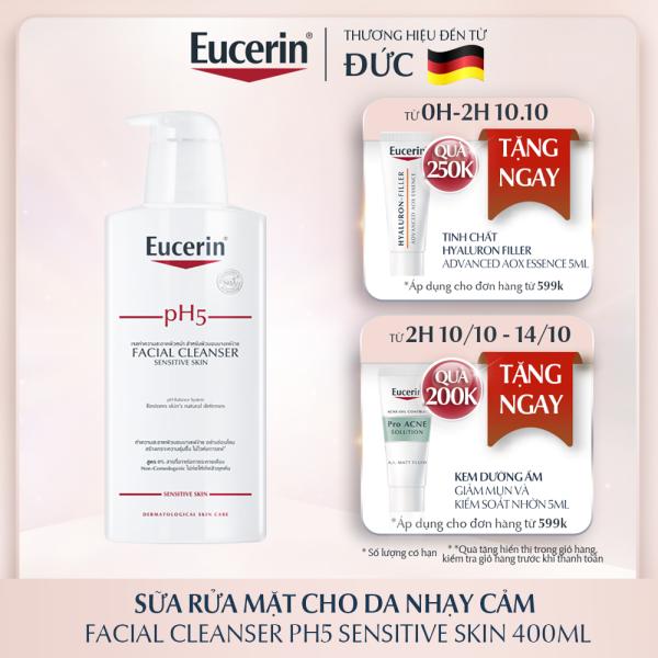 [MỚI] Sữa Rửa Mặt Eucerin Facial Cleanser PH5 Sensitive Skin Cho Da Nhạy Cảm 400ml giá rẻ