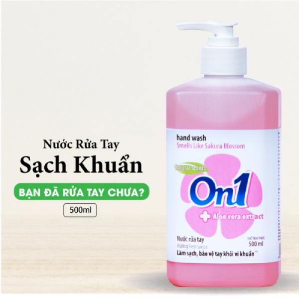 Nước rửa tay sạch khuẩn On1 500ml hương Fresh Sakura 👉 SIÊU GIẢM GIÁ