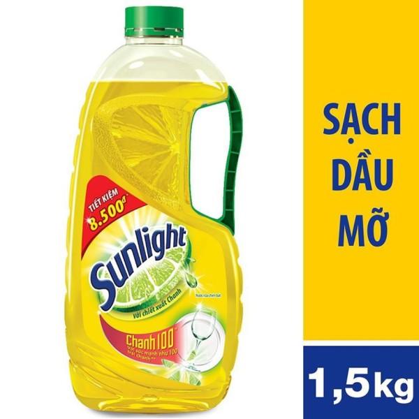[HCM]Nước rửa chén Sunlight Chanh chai 1.5kg