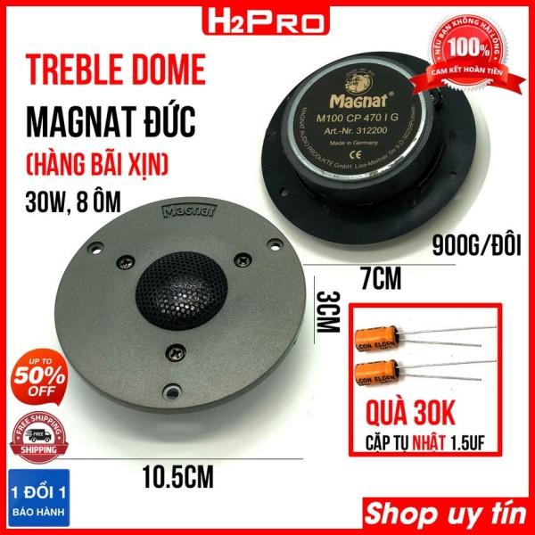 Đôi loa treble Dome MAGNAT ĐỨC 30W-8 ôm, vành 10cm-từ 7cm (2 loa), loa treble dome cao cấp hàng bãi xịn ( tặng cặp tụ 30K )