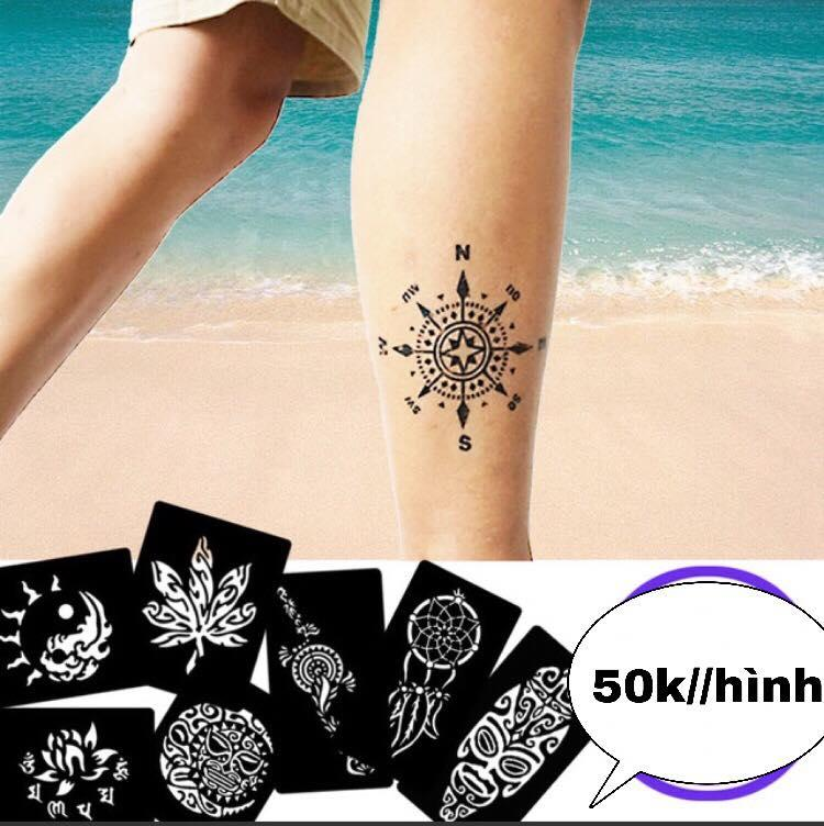01 miếng khuôn vẽ henna