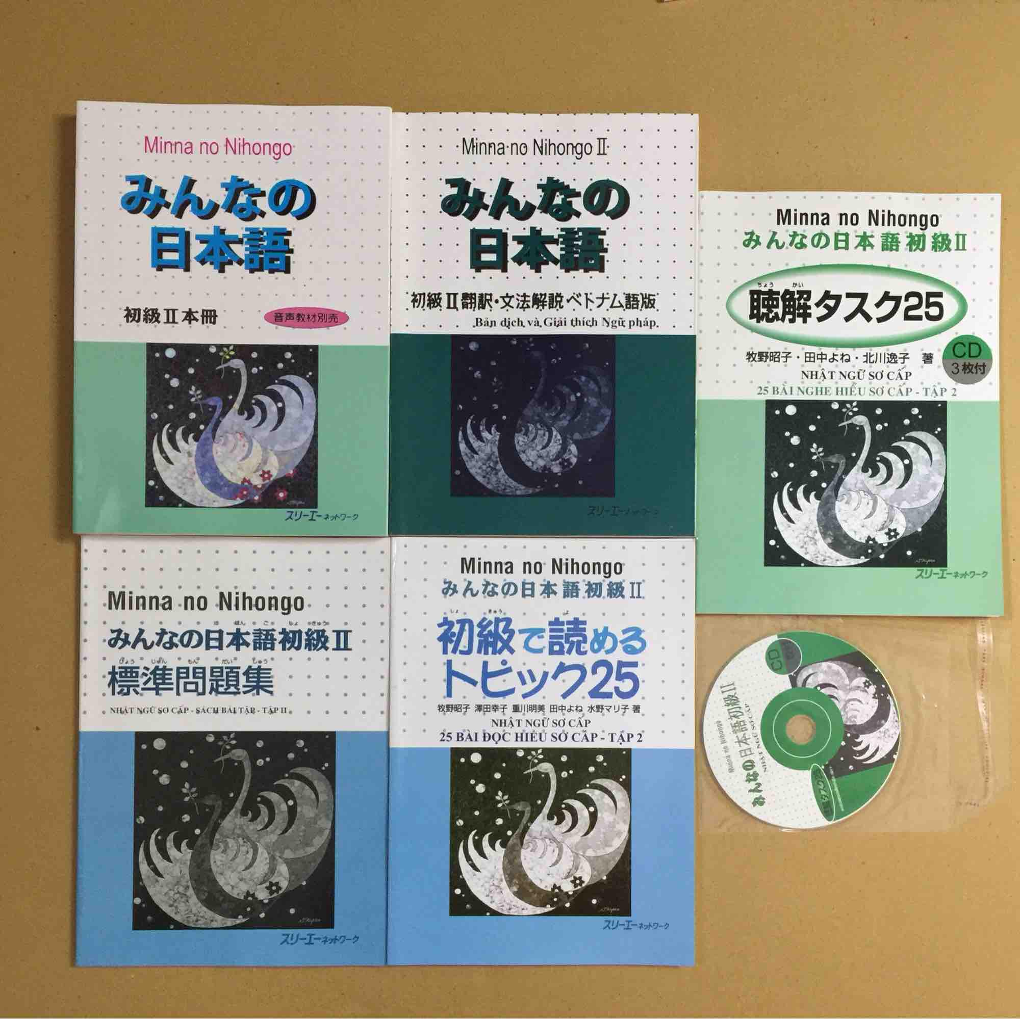 Chương Trình Ưu Đãi cho Combo Minna No Nihongo Tập 2 Bộ 5 Cuốn