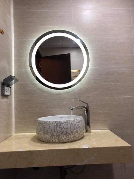 Gương LED tròn phun cát D50 & D60
