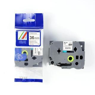 Nhãn in CPT-261 tương thích máy in nhãn Brother P-Touch - Nhãn in chữ đen nền trắng khổ 36mm thumbnail
