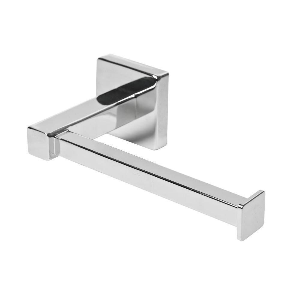 Chrome Square Bathroom Toilet Roll Holder. Wall Mounted Toilet Roll