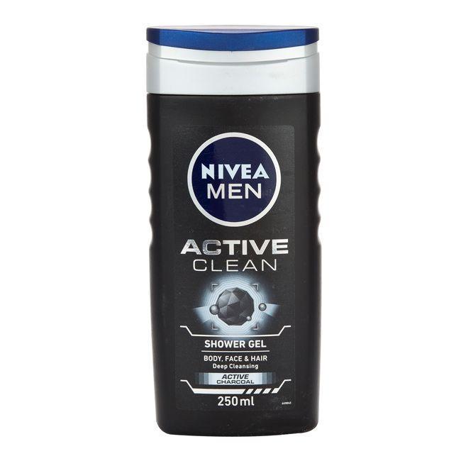 (HSD 09/2020 - SX Đức) Sữa Tắm 3in1 Nivea Men Active Clean 250ml nhập khẩu