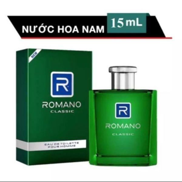 ROMANO NƯỚC HOA CAO CẤP 15ML CLASSIC (XANH LÁ)