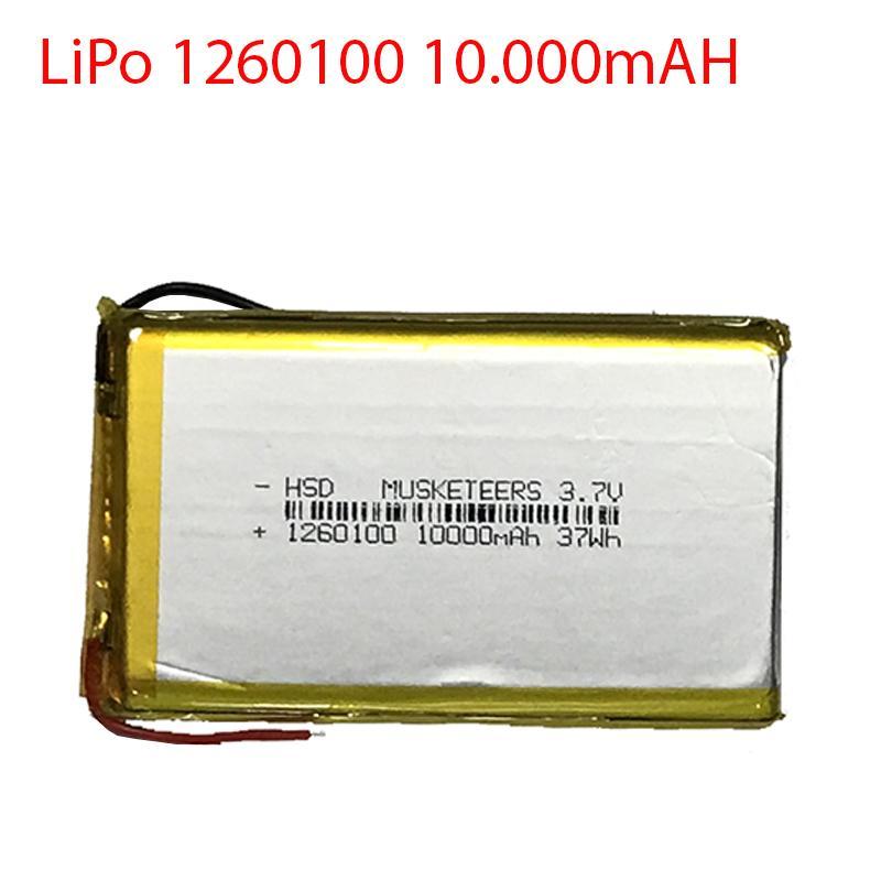 Pin Lion Polyme - Pin Lipo - 1260100 - Dung lượng 10000mAH - Dung lượng đủ