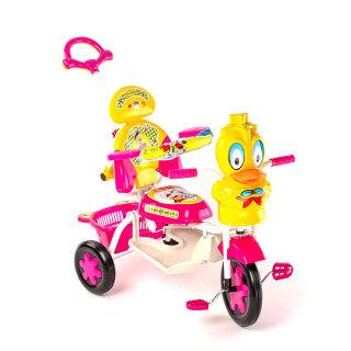 Xe đạp 3 bánh trẻ em có cây đẩy và nhạc Đại Phát Tài dành cho trẻ từ 3 đến 5 tuổi thumbnail