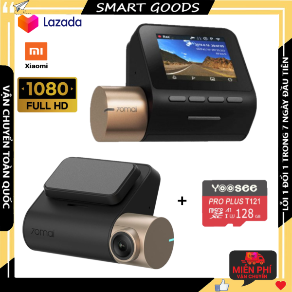 Camera hành trình siêu nét dòng xiaomi chính hãng bản quốc tế FULL HD 1080P Kèm thẻ nhớ chính hãng