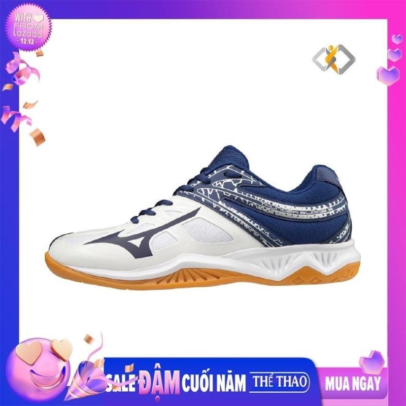 Giày cầu lông chính hãng Mizuno Thunder Blade V1GA197014 màu trắng, chuẩn size, hàng có sẵn - Giày bóng chuyền nam