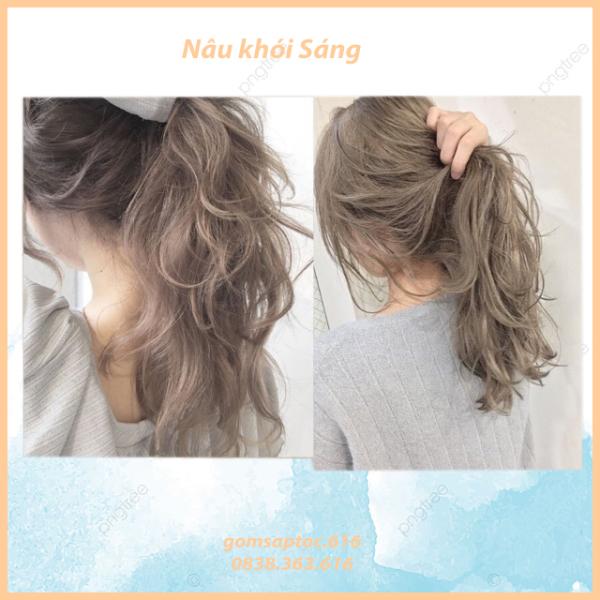 [siêu hot]Thuốc nhuộm tóc Nâu khói sáng không tẩy (TẶNG KÈM OXY TRỢ NHUỘM +GĂNG TAY)