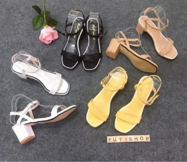 Giày sandal cao gót nữ đế vuông công sở giá rẻ
