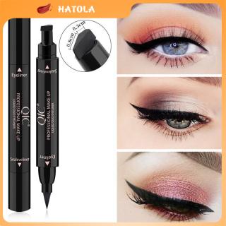 HATOLA - Bút kẻ mắt 2 đầu QIC cao cấp không lem không trôi, Chống nước hiệu quả và giúp định hình nét kẻ mắt cho makeup nữ Chính hàng nội địa Trung BKM-QIC thumbnail