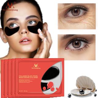 MeiYanQiong 5 Gói mặt nạ mắt collagen ngọc trai đen chống lão hoá xoá nếp nhăn bọng mắt - INTL thumbnail