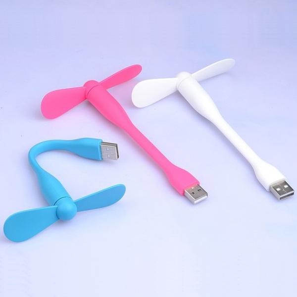 Bảng giá Quạt Mini 2 Cánh Tháo Rời Cổng USB Giải Nhiệt Uốn Cong Tùy Thích - Quạt Điều Hòa Mini Tích Điện Nhỏ Gọn Phong Vũ