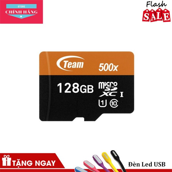 Thẻ nhớ microSDXC Team 128GB 500x upto 80MB/s class 10 UHS-I kèm Adapter