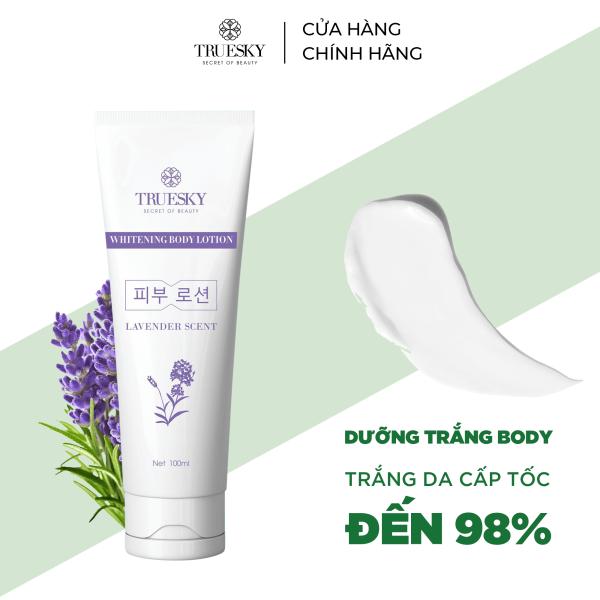 Kem body dưỡng trắng da Truesky dạng lotion hương nước hoa Pháp chính hãng 100ml - Whitening Body Lotion