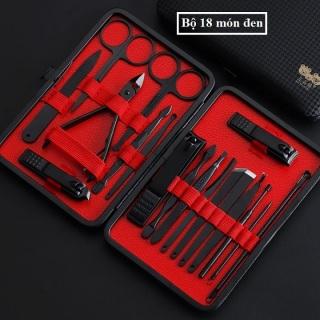 [18 Món] Bộ kiềm cắt móng18 món thép không gỉ, hộp da dạng ví cầm tay cao cấp thumbnail