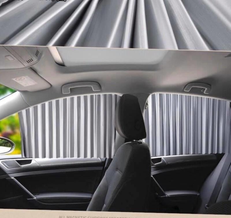 Bộ 4 rèm vải thông minh che nắng 4 cánh cửa xe hơi, ô tô cao cấp CC29 (Màu Ghi Xám)