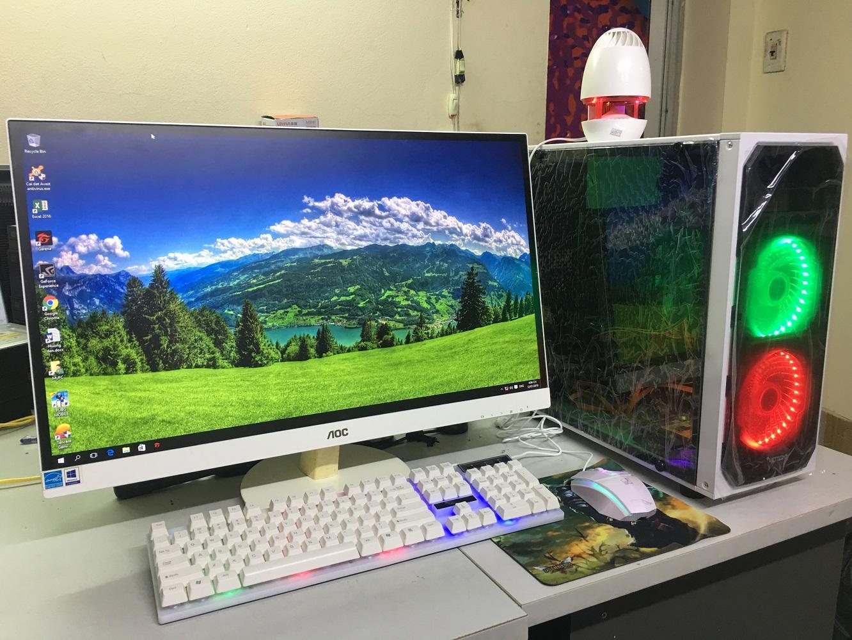 Bộ Máy Tính Chơi Game 27 Inch Full HD Full Viền Full Trắng Trọn Bộ Cây CPU, Chip Intel I5, Ram 16G, Vga Gtx 960, ổ SSD 120G + HDD 250G, Tặng 1 Bộ Bàn Phím, Chuột Led Giả Cơ + 1 USB Wifi + Tai Nghe Gaming + Lót Chuột Đang Ưu Đãi