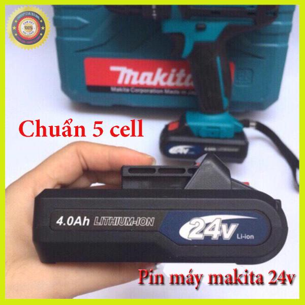 Pin máy khoan makita24v , Pin chuẩn 5 cell bảo hành 6 tháng