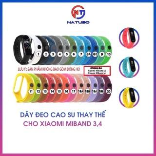 Dây Đeo Silicon Thay Thế Cho Xiaomi Miband 3 Miband 4 Chất Lượng Cao [CHỌN MÀU] thumbnail