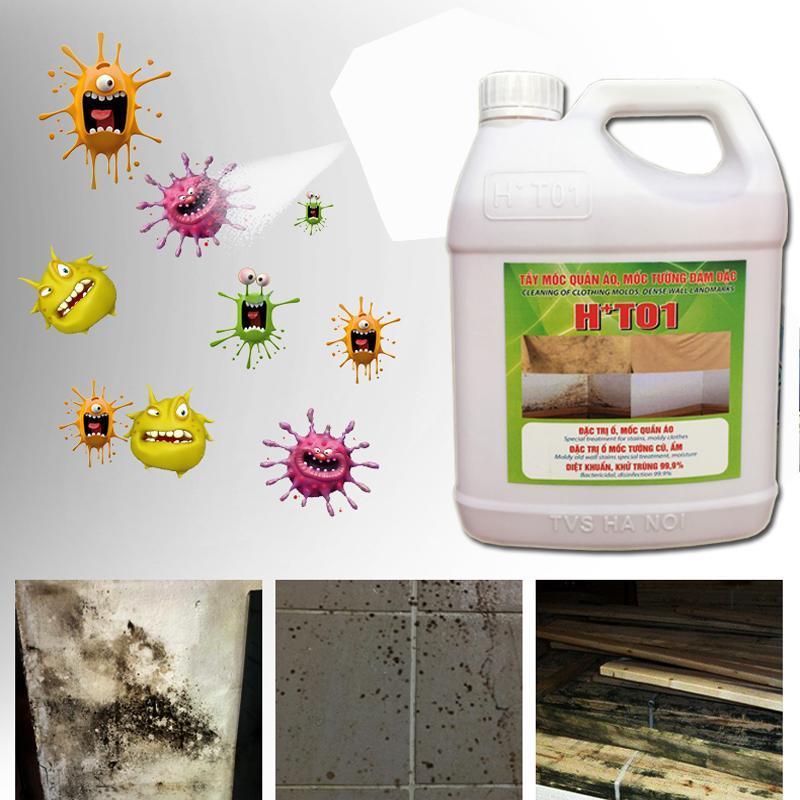 Tẩy ố mốc tường ,quần áo can HT01 1,8 lít SIÊU ĐẬM ĐẶC chuyên dùng cho khách sạn,bệnh viện và tiệm giặt là