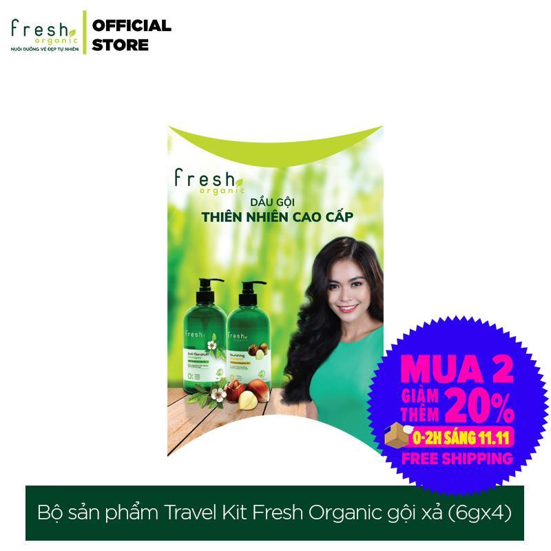 Bộ sản phẩm Travel Kit Fresh Organic gội xả 6g x 4 túi nhập khẩu