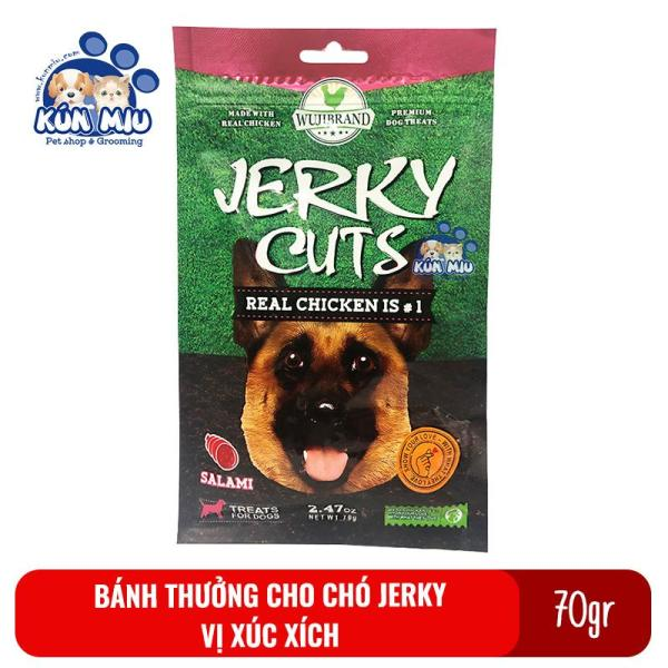 Bánh thưởng cho chó Jerky 70gr Vị xúc xích