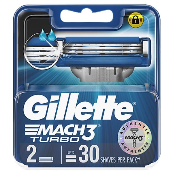 [NEW] Lưỡi dao cạo râu Gillette Mach 3 Turbo bộ 2 cái giá rẻ